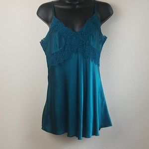 Express Teal Silk Camisole Medium